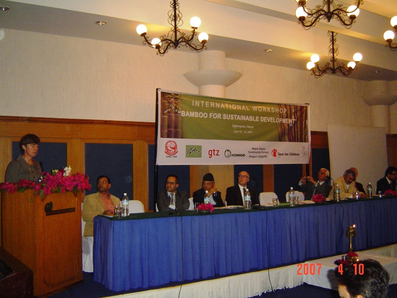 Dr. Coosje Hoogendoorn, DDG of INBAR, made a speech at the opening ceremony of the seminar.